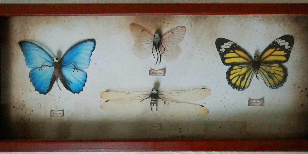 cadre quatre papillons ll